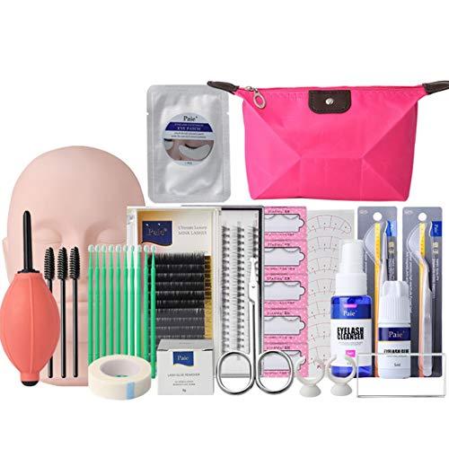 Faux kits de pince à épiler extension individuelle Set Nail beauté maquillage cils greffe costume cils outil de gabarit - multi couleur