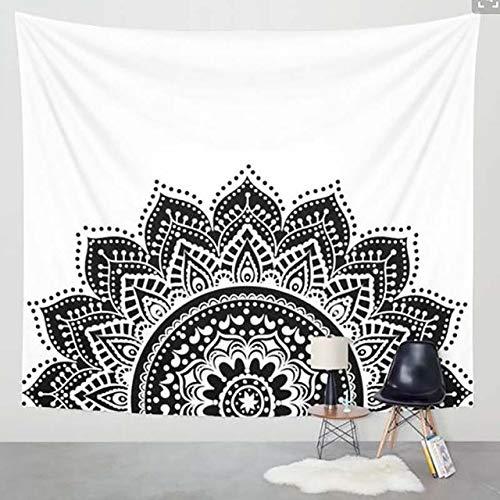 Bohemen zwart-wit doek tapijt multifunctionele tapijt Mandala tafelkleed muur doek draagbare deken slaapkamer Home Decor, 2