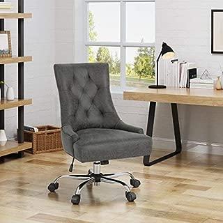 Christopher Knight Home Bagnold Desk Chair, Slate + Chrome