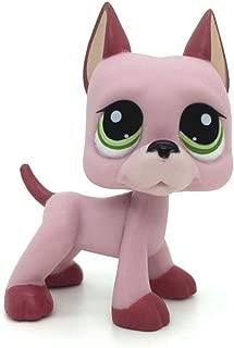 jjlin Mini Pet Shop Rare Pink Great Dane Dog Puppy Green Eyes LPS #2583
