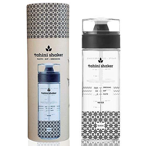Tahini Shaker Tahini-Shaker für Tahini-Sauce, Paste, Dressing, Glas, innovative Art und Weise, glatter Tahini zu servieren