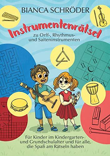 Instrumentenrätsel zu Orff-, Rhythmus- und Saiteninstrumenten
