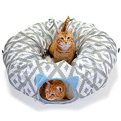 Kitty City Large Cat Tunnel Bed, Cat Bed, Pop Up bed, Cat Toys, Christmas Tree by SportPet Designs