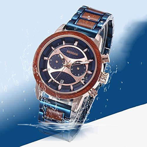 Smartwatch Reloj para Hombre, Reloj De Cuarzo con Esfera Grande, Reloj con Función Luminosa De Calendario, Vida Útil 30 M