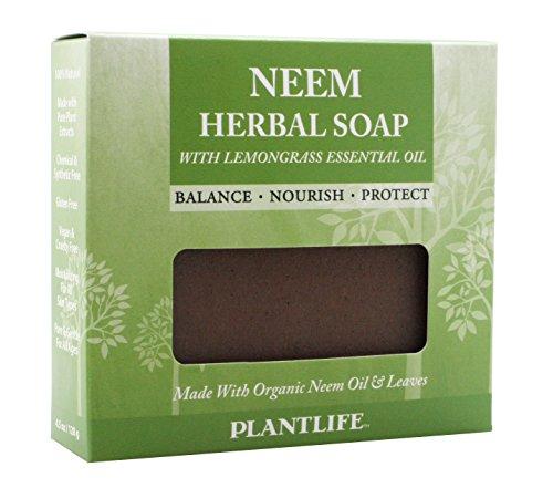 Plantlife Neem Herbal Soap With Lemongrass Essential Oil 4 oz