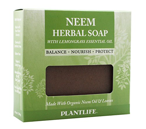 Plantlife Neem Herbal Soap With Lemongrass Essential Oil 4 oz