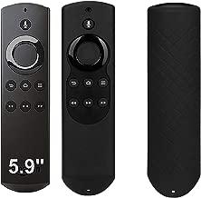 Silicone Remote Cover Case for F TV with 4K Alexa Voice Remote (2017 Edition) (2nd Gen) / F TV Stick Alexa Voice Remote (1st Gen) - Black