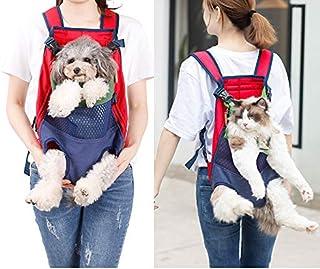Pet net infrared out backpack Pet Shoulder Carrier Bag Soft Legs Out Front Dog Cat Backpack Travel Bag (green blue)
