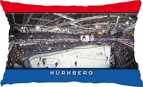 Blue-Letter Nürnberg Eishockey Stadionkissen (50 cm x 30 cm)