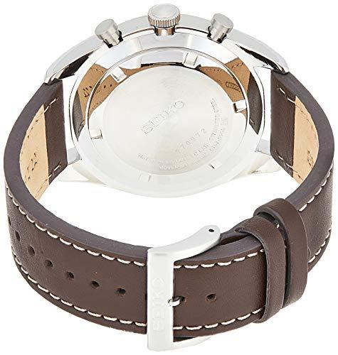 Seiko Reloj Cronógrafo para Hombre de Cuarzo con Correa en Cuero SSB273P1