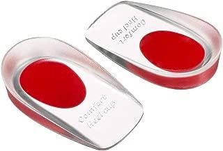 硅胶后跟杯,鞋插入硅胶凝胶垫鞋垫,适用于足底*,**,缓解脚跟痛,跟痛痛,跟腱*和*护理(红色女士 4.5-8.5)