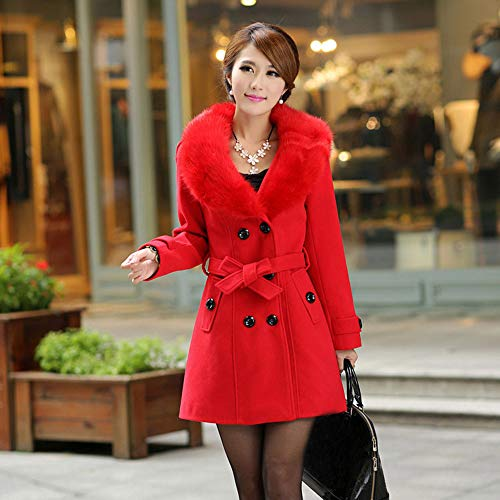 Challeng Veste Femme Columbia,Veste Jeans Mouton Femme,yming Femme Manteau Hiver,Pullover Automne Coton,Sweat-Shirt ado,Rouge