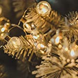 Shan-S Christmas Tree String Lights,15 LED Hanging Crystal Ball Decoration Lighting Snowflake Deer Stars DIY Light String for Xmas Indoor Outdoor Bedroom Home Party Garden Patio Yard