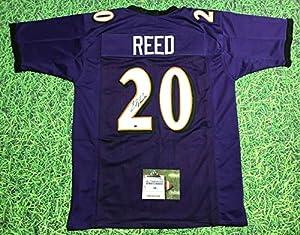 Ed Reed Autographed Baltimore Ravens Jersey Aash Hof 2019