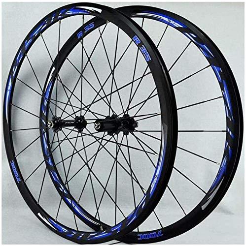 Ruedas Bicicleta llantas MTB Ruedas de bicicleta 700C, bicicleta de carretera Ruedas de 30 mm Rueda de bicicleta de pared doble de la aleación del camino de lanzamiento ruedas de la bici de BMX freno