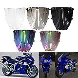 Motorcycle Windshield Windscreen Wind Deflectors Motorbike screen For Yamaha YZF600R Thundercat 1996-2007 (Chrome)