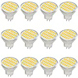Jenyolon MR11 GU4 LED Lampen Warmweiss 3W AC/DC 12V, 3000K, 400Lm, Ersatz für 30W Halogenlampen...