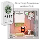 NASHONE Thermostat Steckdose Wireless Steckdosenthermostat, Infrarotheizung Thermostat mit Zeitschaltuhr, Heizung- und Kühlmodus. 3680W - 2