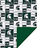 Future Tailgater Michigan State Spartans Licensed Minky Blanket Throw (36' x 28')