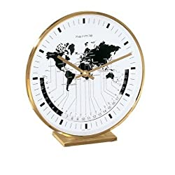 Hermle Buffalo Quartz Mantel Clock (Brass or Nickle Plated)