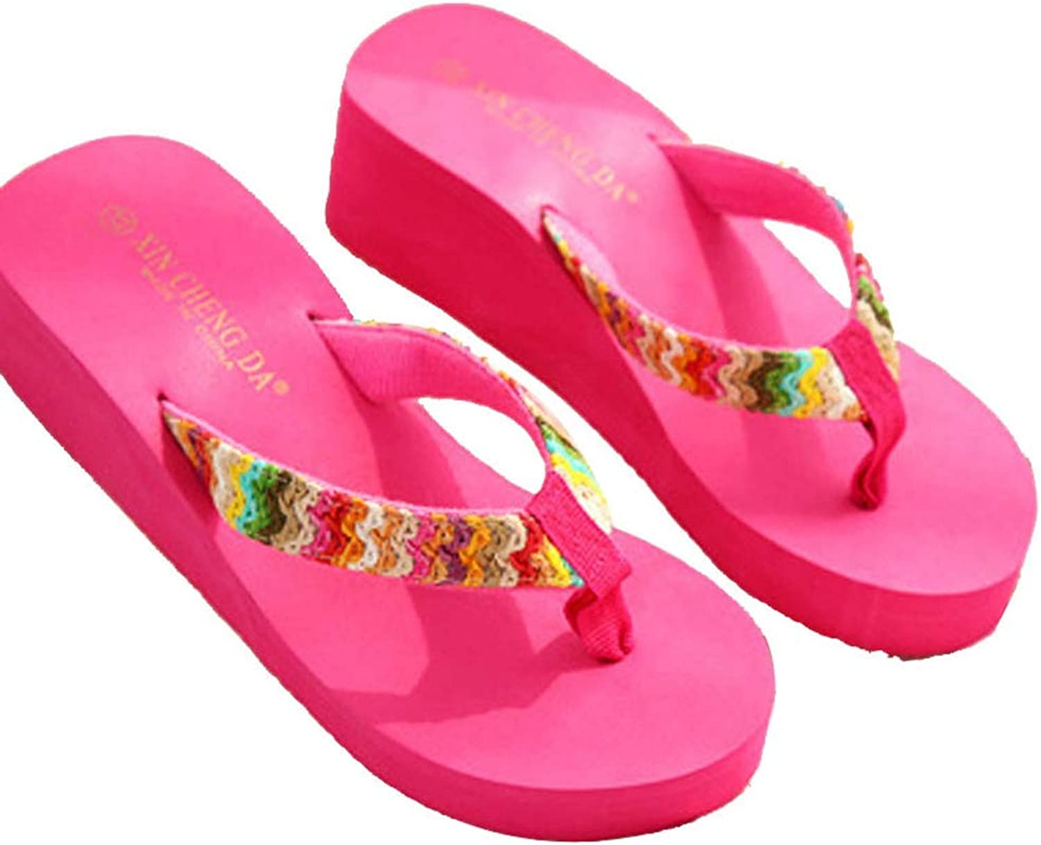 T-JULY Slippers Women Summer Platform Beach Flat Wedge Patch Flip Flops Lady Tongs Casual Female Outdoor Sandal shoes