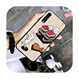 FightLY Sushi Coque de protection en TPU pour Huawei G7 G8 P7 P8 P9 P10 P20 P30 Lite Mini Pro P...