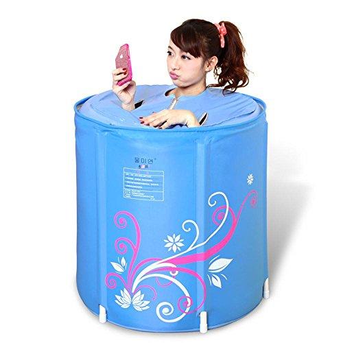 Body Thicker Punch Cotton Falten Bad Korb Badewanne Adult Bathtub Aufblasbare Bad Waschbecken Bad Flasche (Farbe : 70 * 68cm)