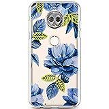 Robinsoni Cover Compatibile con Motorola G6 Cover Silicone Colorate Clear View Trasparente...