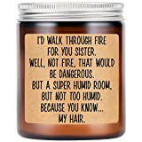LEADO Lavender Scented Candles - Funny Gifts for Sister, Sister in Law, Sister Gifts from Sister -...