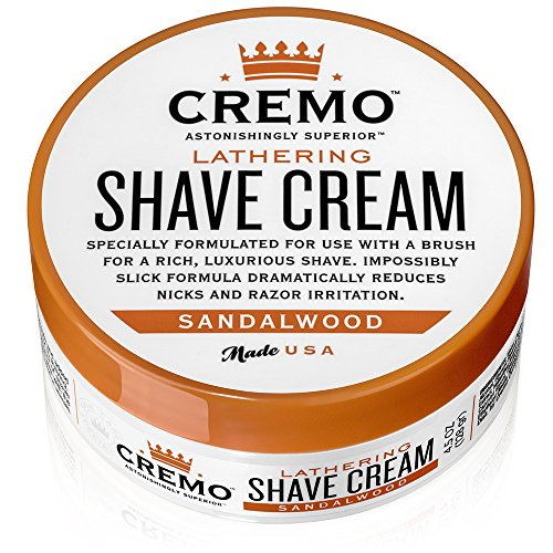 Cremo Lathering Shave Cream, Specially Formulated for Use With a Brush for...
