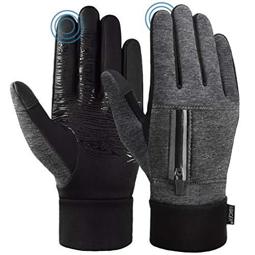 VBIGER Handschuhe Touchscreen Unisex Fahrradhandschuhe Winterhandschuhe Anti-Rutsch Sporthandschuhe Wasserabweisend Trainingshandschuhe Warme für Radfahren Laufen & Reiten