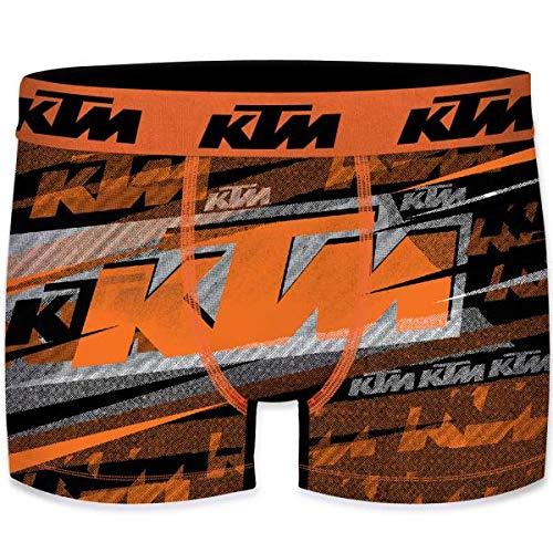KTM Heren Boxershorts microvezel DIR6 Oranje Grijs
