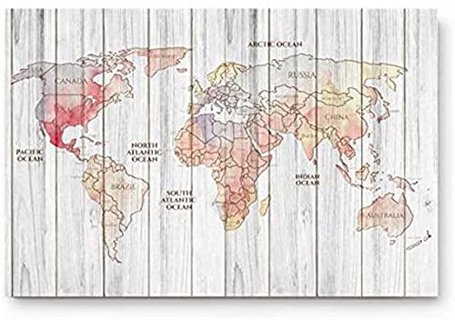 Zerbino con mappa del mondo per ingresso e viaggio intorno al mondo per camera da letto/cucina/ingresso, tappetino antiscivolo (30,5 x 51,8 cm)