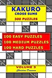 Kakuro Cross Sums – 300 Puzzles – Volume 3: 100 Easy Puzzles – 100 Medium Puzzles – 100 Hard Puzzles
