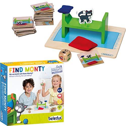 Beleduc-Find Monty para niños y Familiares, Multicolor (22411)