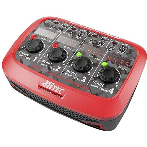 Hitec 1-00689 Ladegerät für Mobiltelefone, innen, Schwarz, Rot