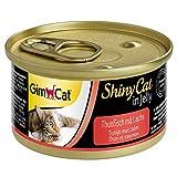 GimCat ShinyCat in Jelly Thon au saumon – Nourriture humide pour chats au poisson et à la taurine – 24 boîtes (24 à 70 g)