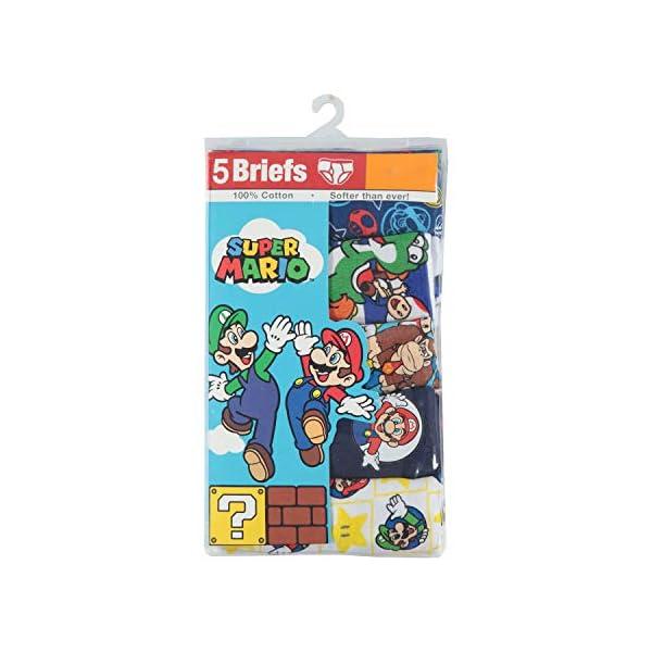 Nintendo Boys' Mario 5 Pack Briefs