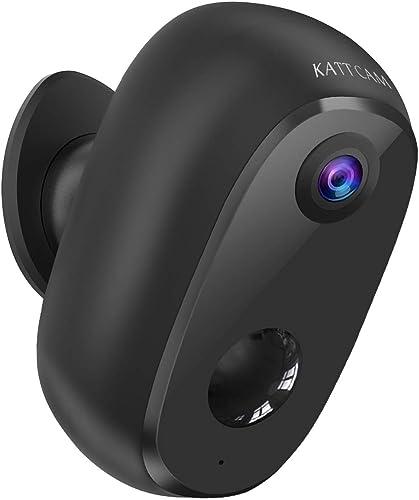 Security Camera Outdoor Wireless, Surveillance Rechargeable Battery-Powered WiFi 1080P Camera 10000mAh, PIR Motion De...