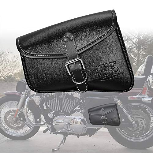 Black Internal Saddlebag Storage Organizer Suits for Harley Touring Motorcycles Goldfire Motorcycle Accessory