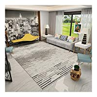 現代抽象ラグノンスリップグレー/ベージュ大規模なラグ、ベッドルームに適したスーパーソフトユーズドアクセント床敷物、リビングルーム、幼稚園、クリスマスの飾り SYLOZ (Size : 200 X 300 cm)