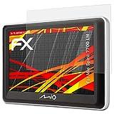 atFoliX Schutzfolie kompatibel mit Mio Spirit 7700 LM Bildschirmschutzfolie, HD-Entspiegelung FX Folie (3X)