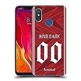 Head Case Designs Arsenal FC Coutume Personnalisé Maison 2020/21 Kit Coque en Gel Doux Compatible...