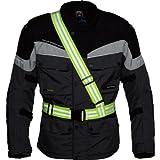 Safe Max® Sicherheitsweste Warnweste Motorrad Fahrrad gelb Motorrad neon gelb für Damen & Herren   Signalband