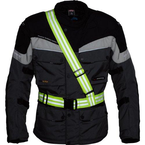 Safe Max® Sicherheitsweste Warnweste Motorrad Fahrrad gelb Motorrad neon gelb für Damen & Herren | Signalband