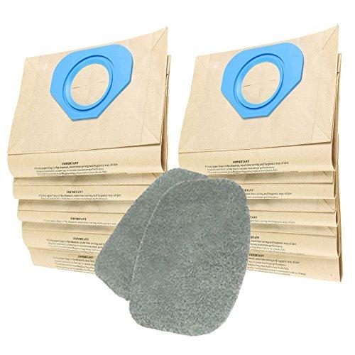 Spares2go filtre Coussinets + Sacs à poussière pour Nilfisk Ga70i Ga70s Ga70tl Aspirateur (lot de 2 filtres + 10 Sacs)