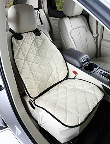 Front Seat Cover for Dogs (Tan) - USA Based Company