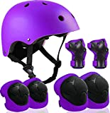 Strap Adjustable Helmet for Youth Kids Toddler Boys Girls,Protective Gear with Elbow Knee Wrist Pads for Multi-Sports Skateboarding Bike Riding Hiking Scooter Inline skatings Longboard Roller Skate