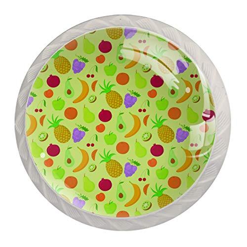 Blanco Perillas Redondas Fruta Plátano Piña Hecho a Mano perilla del gabinete para los cajones del tocador de la habitación infantil (con Tornillos) 35mm
