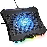 KLIM Rainbow + Refroidisseur PC Portable - 11' à 17' + Éclairage RGB + Support Ordinateur Portable Gaming +...